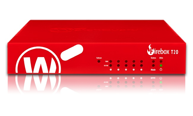 WatchGuard Firebox T20 med 1 års Standard Support
